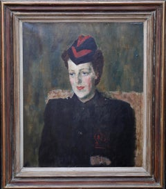 Gillian Kluane Tanner - George Medal WWII art Fire Service portrait oil painting
