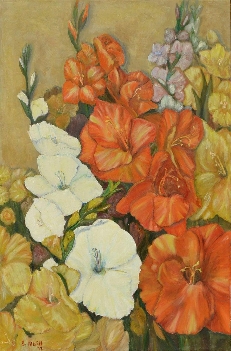 Gladiolas Floral Still Life - Painting by B Isbill