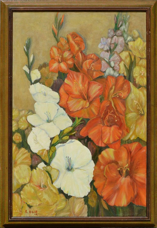 B Isbill Still-Life Painting - Gladiolas Floral Still Life