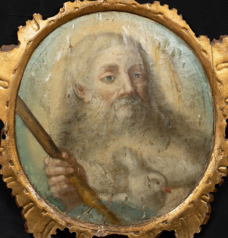 God, The Father, 16th/17th Century  - Painting by Unknown