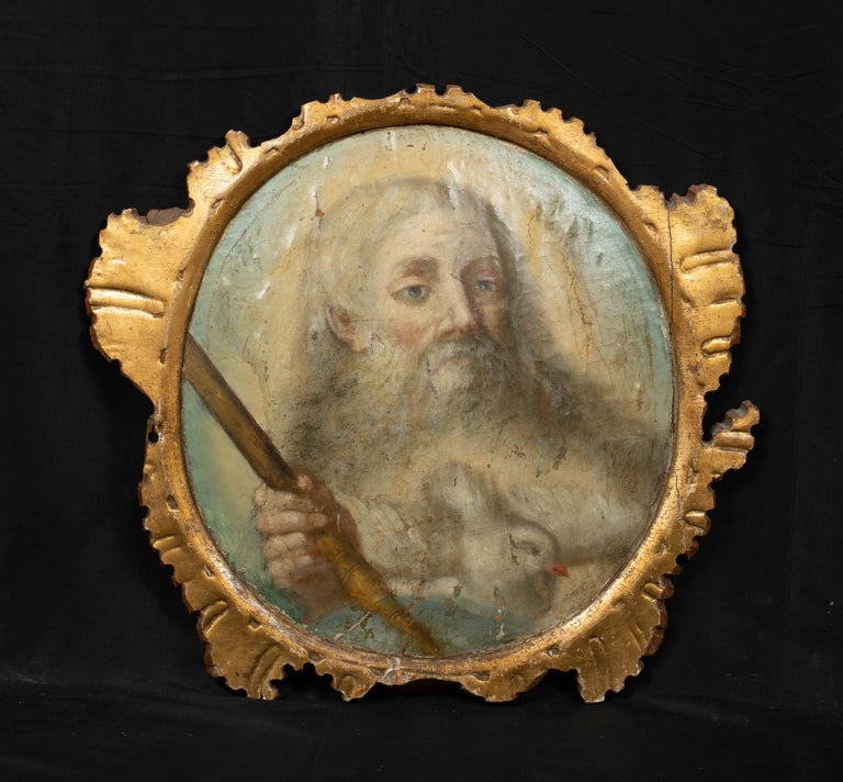 Unknown Portrait Painting - God, The Father, 16th/17th Century