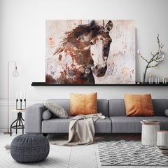 Gorgeous Chestnut Horse Fine Art Hand Embellished Giclee on Canvas Irena Orlov