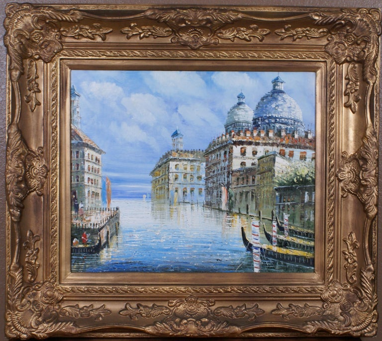 Unknown Landscape Painting - {Grand Canal of Venice}
