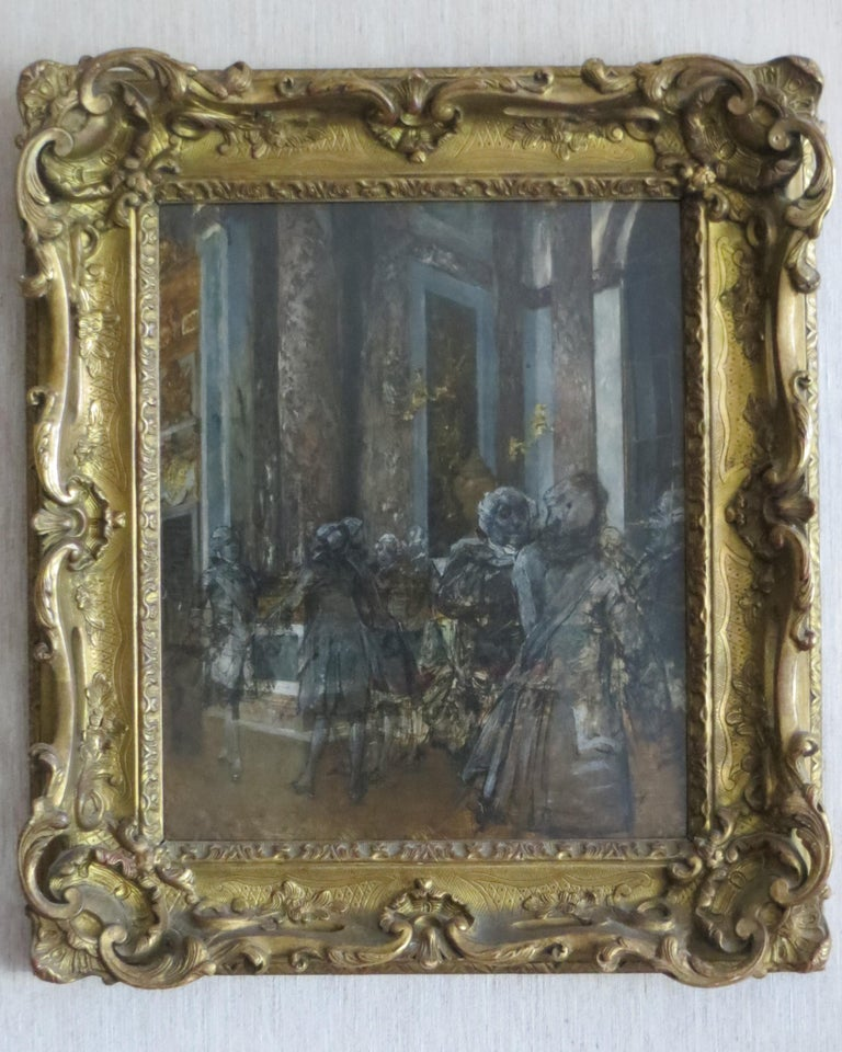 Unknown Figurative Painting - Hall of Mirrors in Versailles Castle
