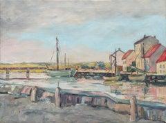 Impressionist oil, 'The Estuary at Low Tide'