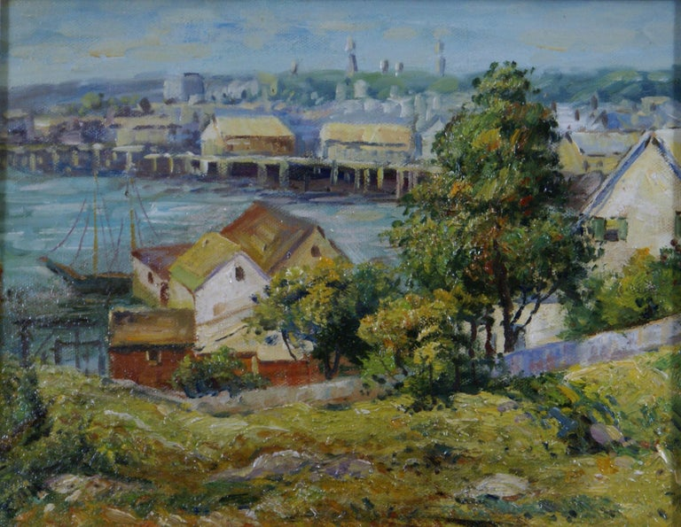 Harbor View - Painting by Unknown