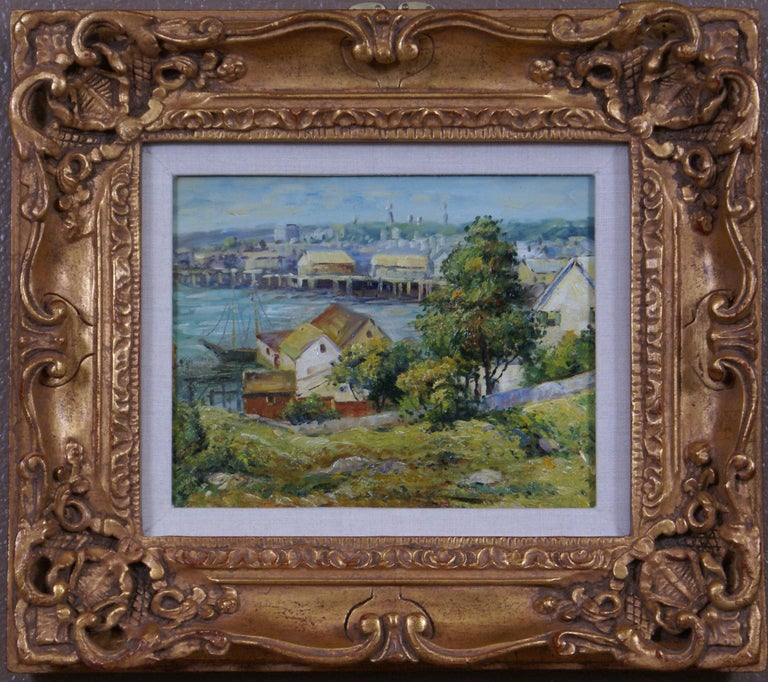 Unknown Landscape Painting - Harbor View