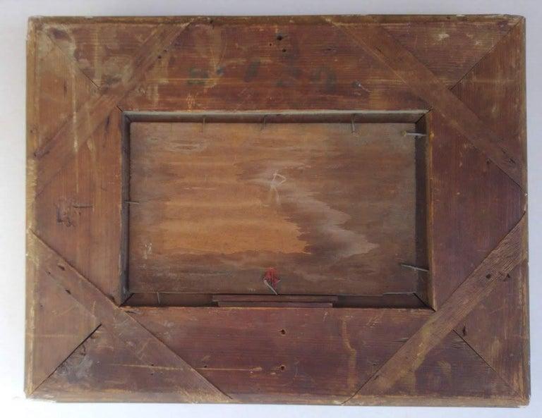 Study of Haystacks, 19th c. Barbizon School For Sale 1
