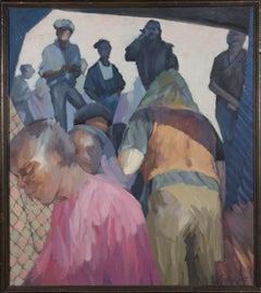 Helen Frankpitt - Signed & Framed 1990 Oil, Moving Up