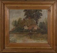 Henry Yeend King - Signed & Framed 19th Century Oil, Tudor Cottage
