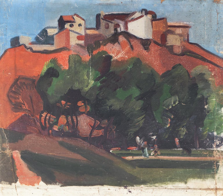 French Post Impressionist 'Hill Town in Provence' For Sale 2