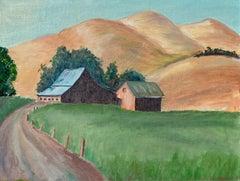 Hillside Farmhouse - Mid Century Landscape
