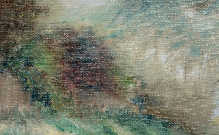 Hillside Landscape - American Impressionist Painting by Unknown