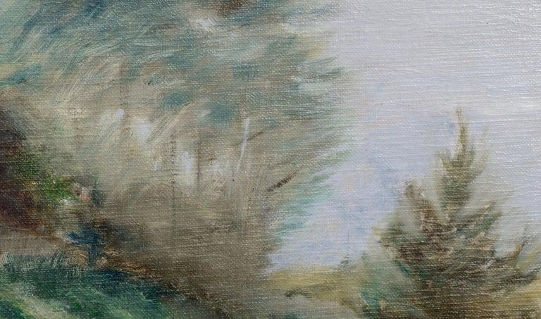Hillside Landscape - Brown Landscape Painting by Unknown