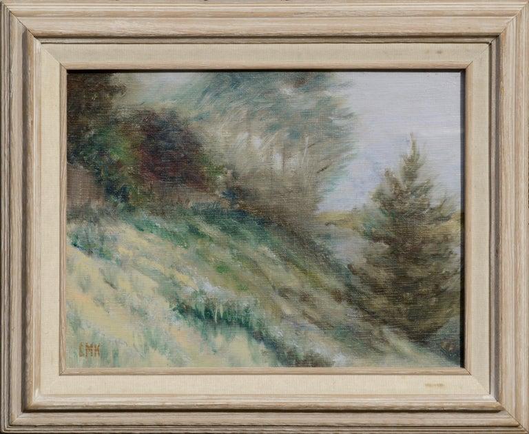 Unknown Landscape Painting - Hillside Landscape