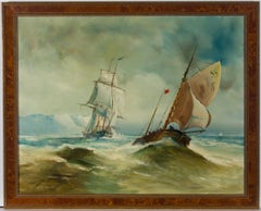 H.K.O - Framed Mid 20th Century Oil, The  Merchantman, Baltimore