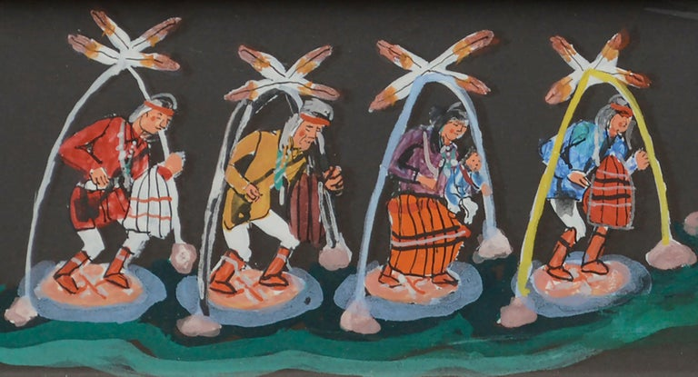 Hopi Dancers  - Folk Art Painting by Unknown