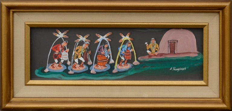 Unknown Figurative Painting - Hopi Dancers