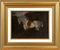 "Horse Portrait ""Shamrock"" (British School, 19th Century) Oil Painting on Canvas"