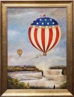 Hot Air Balloon over Niagra Falls