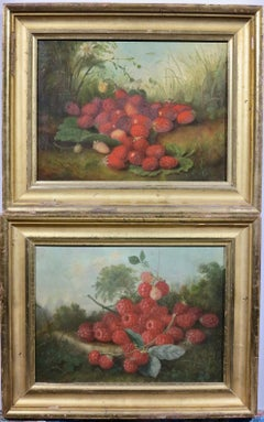 Hudson River School era fruit still life landscape paintings