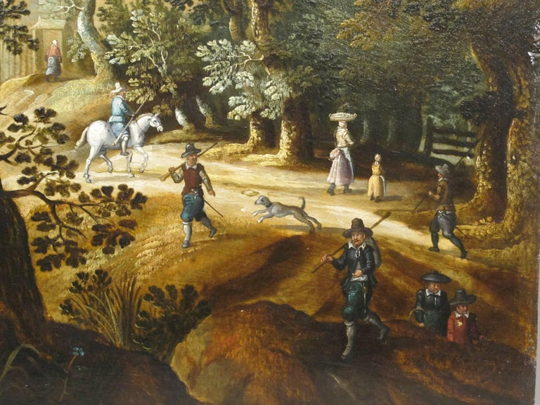 Hunters Shooting Geese, old masters Dutch painting pair attrib. to Vinckboons  For Sale 1