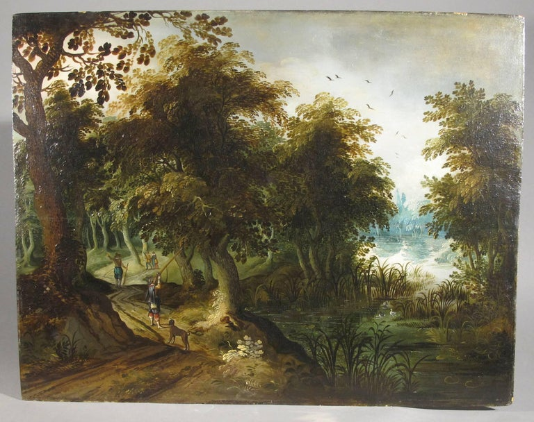 Hunters Shooting Geese, old masters Dutch painting pair attrib. to Vinckboons  For Sale 3