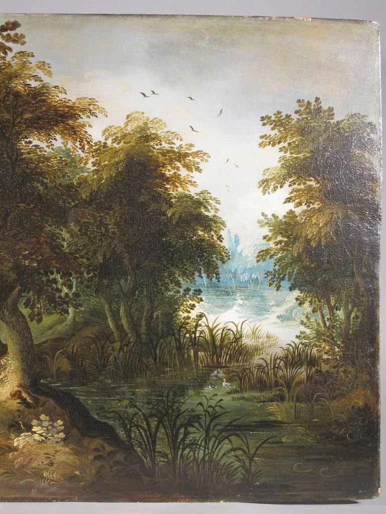 Hunters Shooting Geese, old masters Dutch painting pair attrib. to Vinckboons  For Sale 4