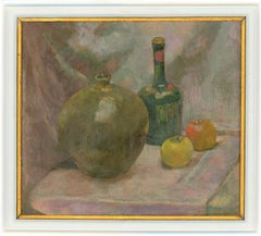 Ian W. Green - Signed and Framed Contemporary Oil, Still Life with Apples