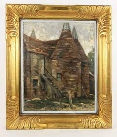 Impressionist 19th  Century French Farm House Landscape
