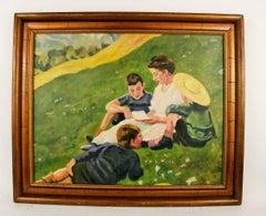 Impressionist Figurative Landscape  Painting
