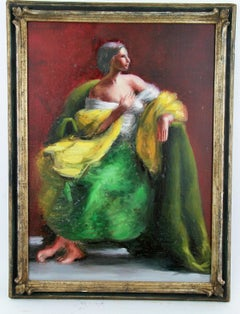 Impressionist Figurative painting of a French Noble Woman