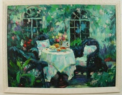 Impressionist French Cafe Landscape