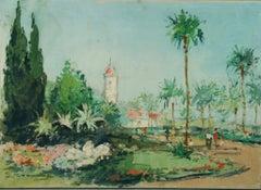 Impressionist Italian Landscape Arco Trentino 1960