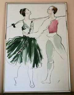 Impressionist Over sized  Ballet Painting