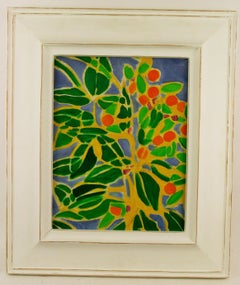 Impressionist Stain  glass  Floral Painting