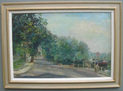 Impressionist: Sunny Day by The Thames, oil circa 1930's