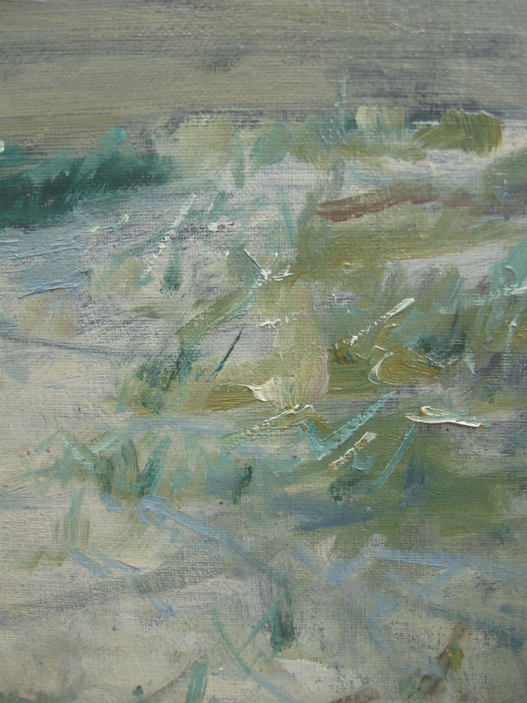 Impressionist: 'Young Friends by the Beach watching Fishermen' oil circa 1950's For Sale 4