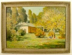 Impressionistic Landscape with Children