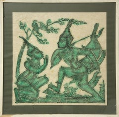 Indonesian scene - Original Batik - 1970s