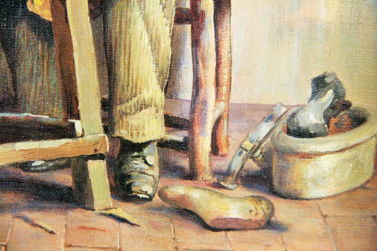 Italian Cobbler Figurative Painting  by L. Colli 2