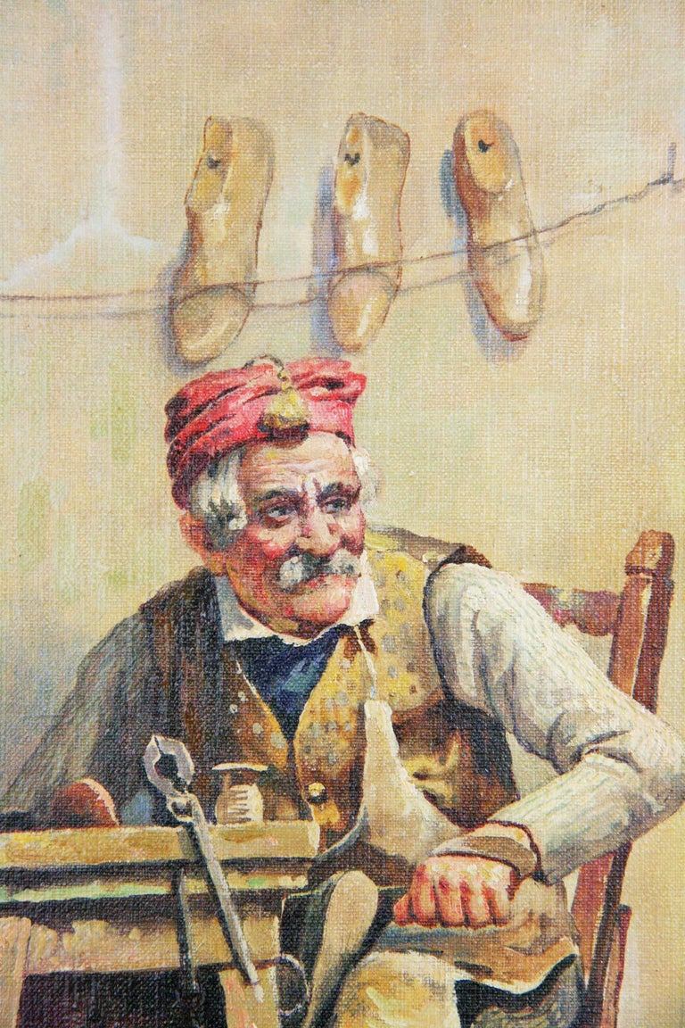 Italian Cobbler Figurative Painting  by L. Colli 3