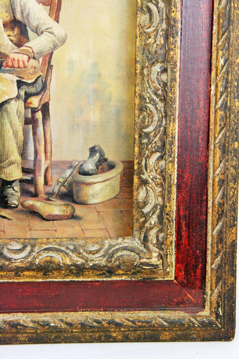 Italian Cobbler Figurative Painting  by L. Colli 5