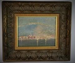 Italian Impressionist Coastline Landscape