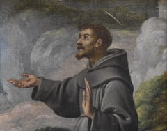 Italian school, early 17th century, Saint Francis of Assisi, oil on canvas