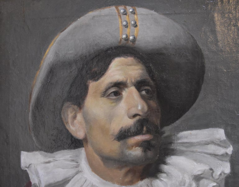 Italian School, Portrait of an actor dressed for the Commedia dell'arte, oil - Academic Painting by Unknown