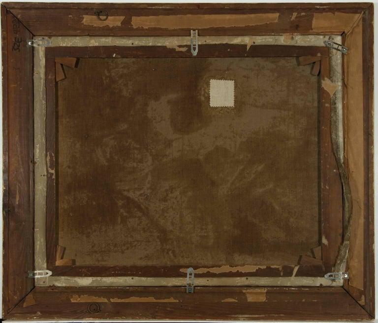 J. B. Crosbie - Signed 1896 Oil, Victorian Children in Winter Landscape For Sale 4