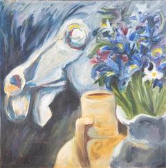 J. Thorndike - Signed Mid 20th Century Oil, Fluid Flowers