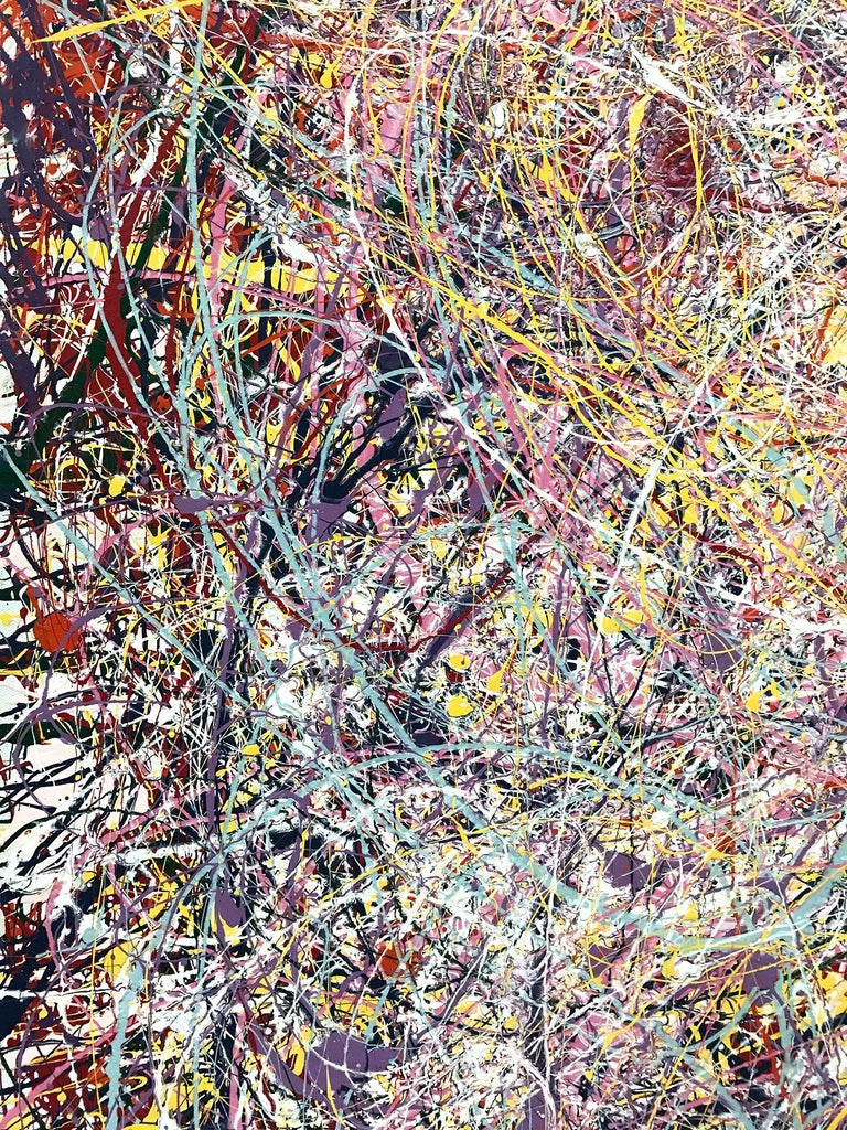 Jackson Pollock Style Abstract Expressionist Colorful Painting 7