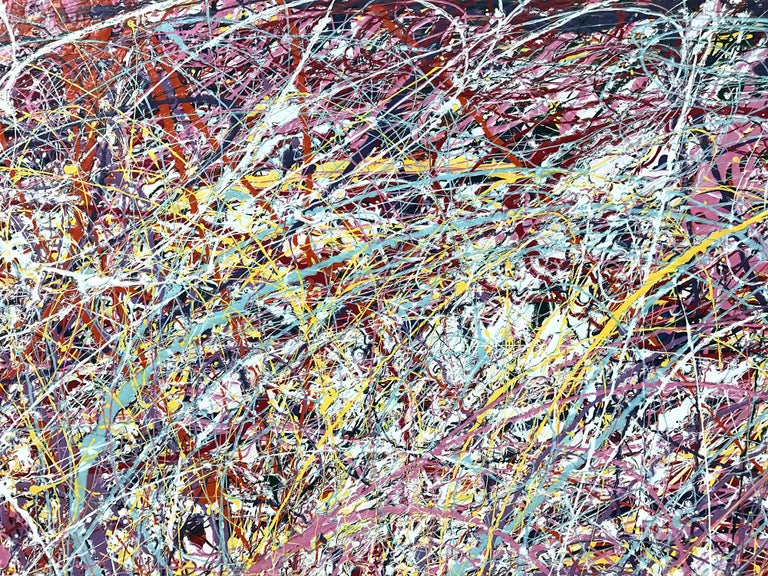 Jackson Pollock Style Abstract Expressionist Colorful Painting 1